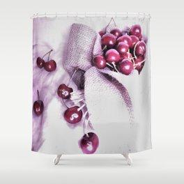 Cherry Harvest Shower Curtain