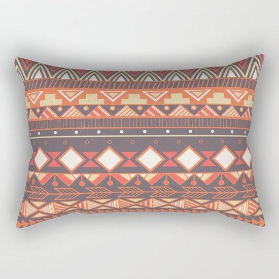 Aztec tribal pattern in stripes, vector illustration Rectangular Pillow