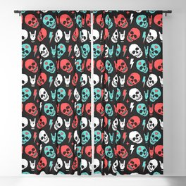 Skull - Black Blackout Curtain