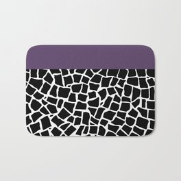 British Mosaic Purple Boarder Bath Mat