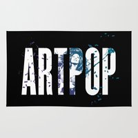 artpop Area & Throw Rugs featuring ARTPOP by Greg21