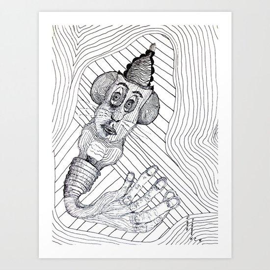 Mouse Fingers Art Print