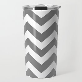 Gray (HTML/CSS gray) - grey color - Zigzag Chevron Pattern Travel Mug