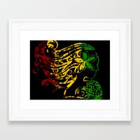 reggae Framed Art Prints featuring Reggae Lady by Lonica Photography & Poly Designs