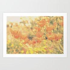 Warm Tones & Petals Art Print