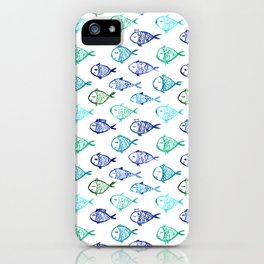 Swimming to Maldives || watercolor iPhone Case