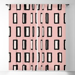 Chad Pattern Dusty Rose 2 Blackout Curtain