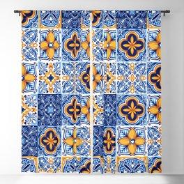 Azulejo pattern 10 Blackout Curtain