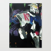 evangelion Canvas Prints featuring Evangelion Wing by JLEEORIGINALS