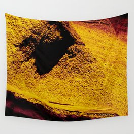 Violet Yellow Stone Wall Tapestry