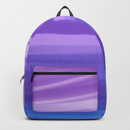 blue and violate wavy abstract Backpack