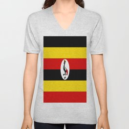 Flag of Ugandan Unisex V-Neck
