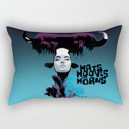 Hats, Hooves and Horns Rectangular Pillow