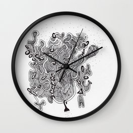 Found Floating Through Space Wall Clock
