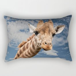funny giraffe Rectangular Pillow