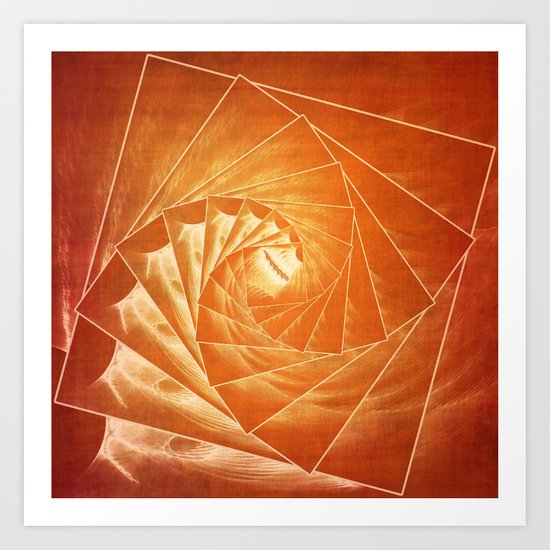 The Burning Eye Sees Spiral Art Print