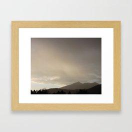 Rain on the San Francisco Peaks Framed Art Print