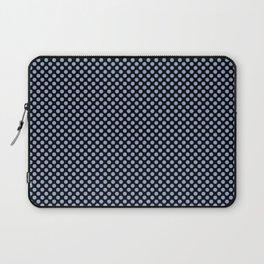 Black and Serenity Polka Dots Laptop Sleeve