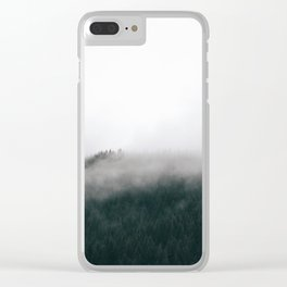 Forest Fog XV Clear iPhone Case