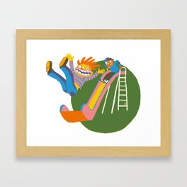 The Slide Framed Art Print