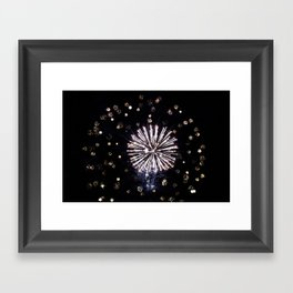 Fireworks in Harrison Hot Springs BC Canada Framed Art Print