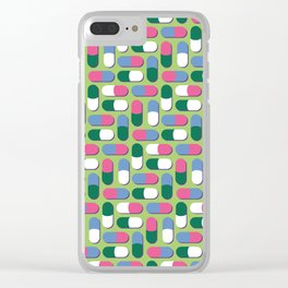 Colorful pills Clear iPhone Case