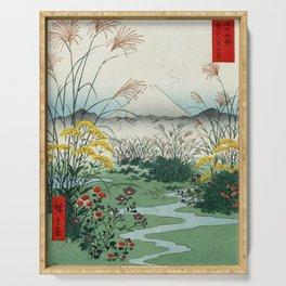 Hiroshige - 36 Views of Mount Fuji (1858) - 31: The Ōtsuki Plain in Kai Province Serving Tray