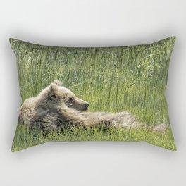 Drifting Off - Bear Cubs, No. 7 Rectangular Pillow