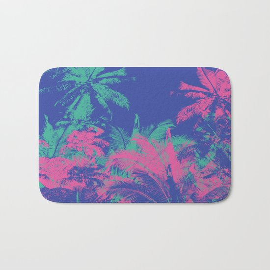 Colored Palms Bath Mat