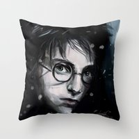 harry Throw Pillows featuring Harry by LucioL