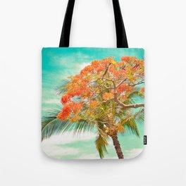 Summery Trees in Hawaii Tote Bag