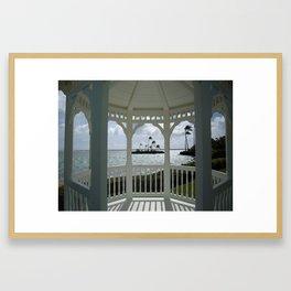 KAHALA GAZEBO Framed Art Print