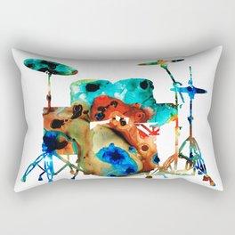 The Drums - Music Art By Sharon Cummings Rectangular Pillow