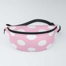 Cotton candy - pink - White Polka Dots - Pois Pattern Fanny Pack