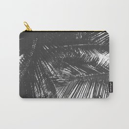 Tropical Black and White Carry-All Pouch