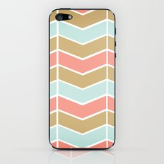 Mint.Coral.Gold Chevron iPhone & iPod Skin