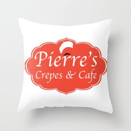 Pierre's Crepes & Cafe Throw Pillow