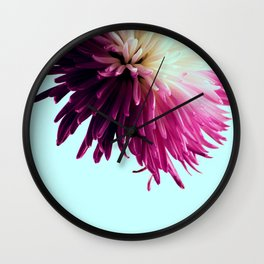 One Flower Wall Clock