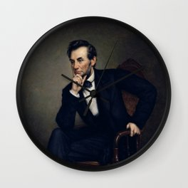 Portrait of Abraham Lincoln Wall Clock