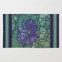 potato Area & Throw Rugs featuring Percolated Purple Potato Flower by Charma Rose