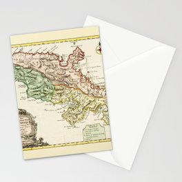 Map Of Martinique 1750 Stationery Cards