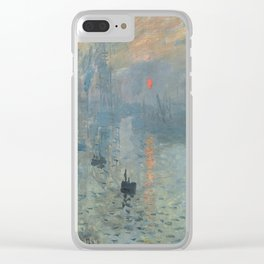 Claude Monet's Impression, Soleil Levant Clear iPhone Case