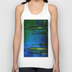 glass is green Unisex Tank Top