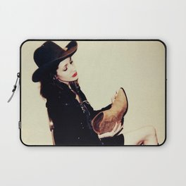 High Contrast Cowgirl Laptop Sleeve