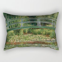 """Claude Monet """"The Japanese Footbridge and the Water Lily Pool, Giverny"""" Rectangular Pillow"""