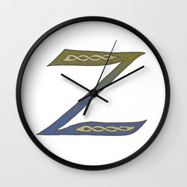 Celtic Knotwork Alphabet - Letter Z Wall Clock