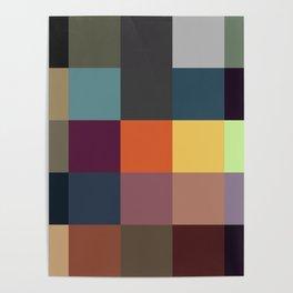 Pixel Patchwork Kappa Poster