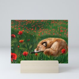 Auburn coloured nap Mini Art Print