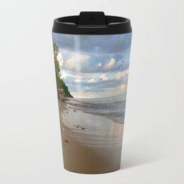 Lake Michigan Beach at Sunset Travel Mug