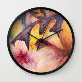 Flower experiment Wall Clock